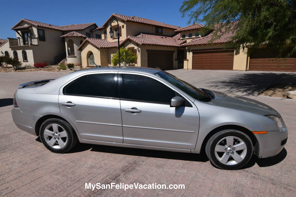 Ford Fusion for rent in San Felipe