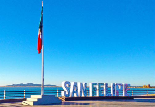 San Felipe Malecon sign