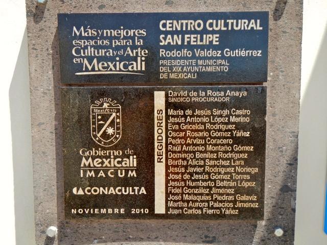 San Felipe Cultural Center Sign