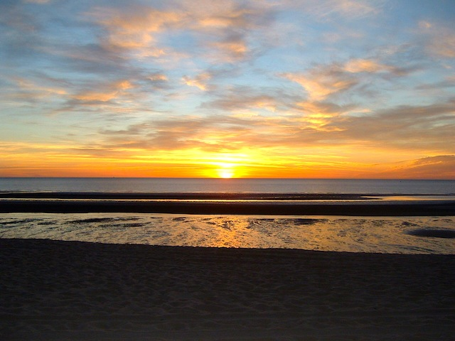 sunset in San Felipe, Baja California, Mexico