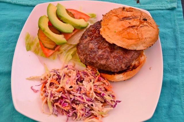 burger at sweet spot San Felipe