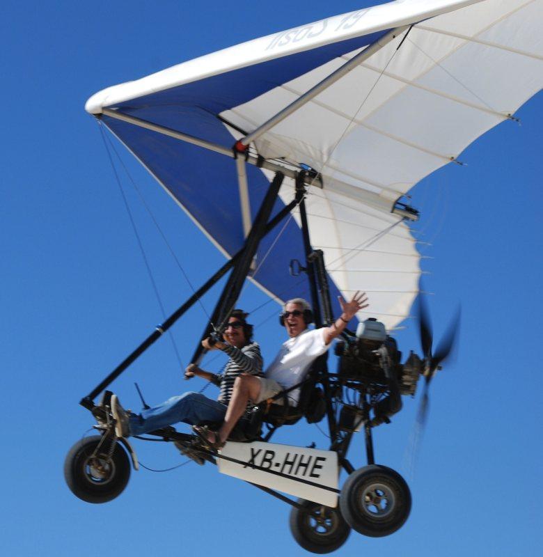 Enjoy a flight in ultralight plane