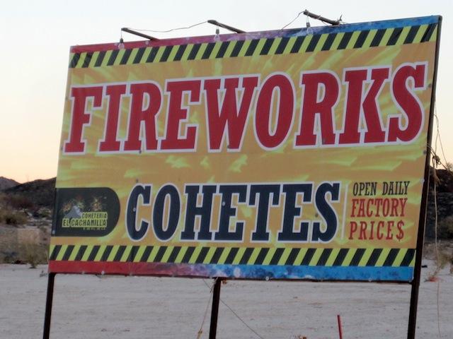San Felipe Fireworks store sign