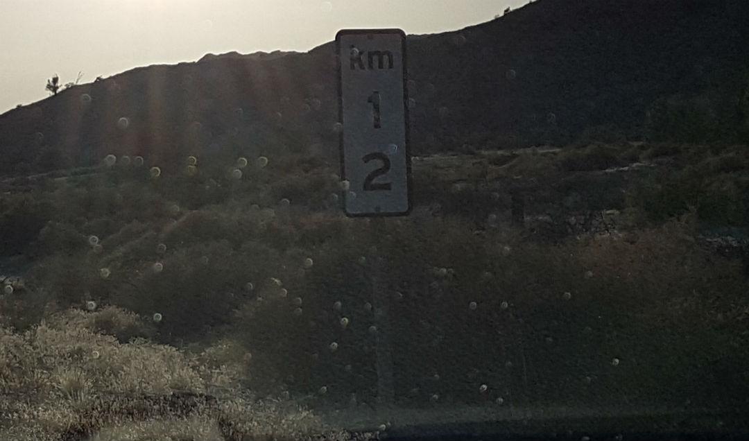 KM 12 marker San Felipe-Puertecitos Highway 1