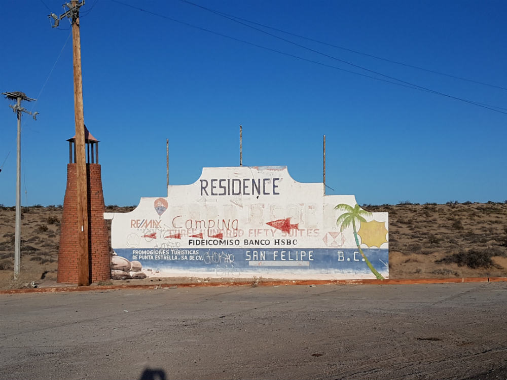 Landmark along road to shell beach San Felipe
