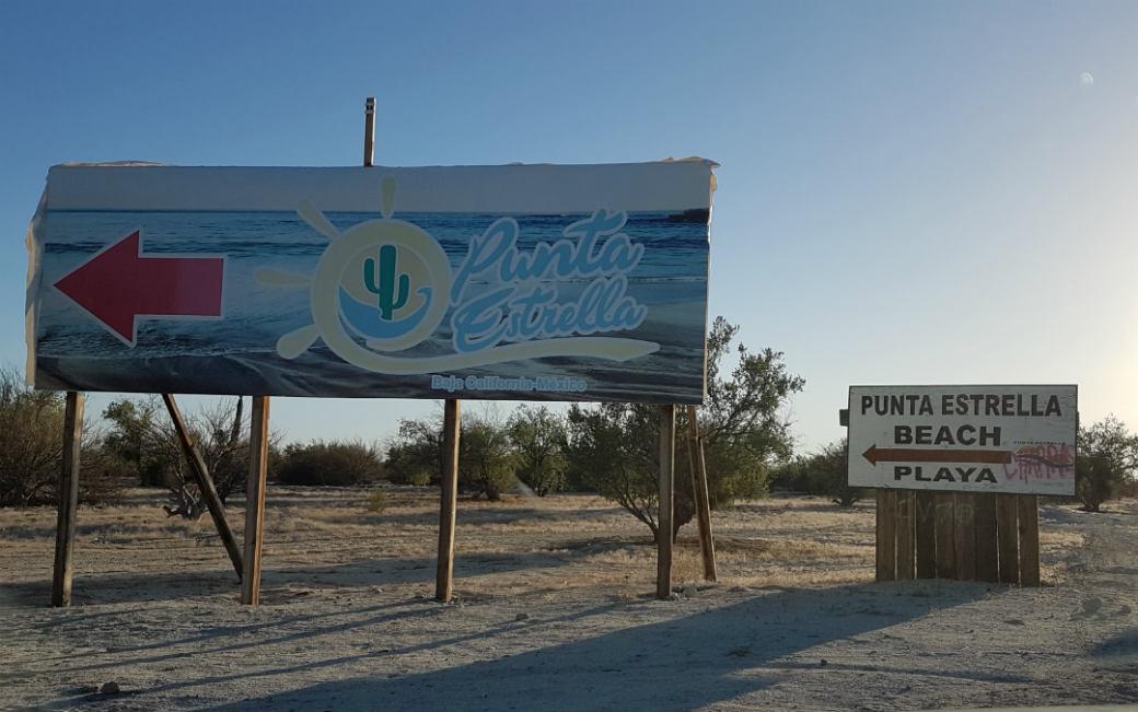 Shell Beach Punta Estrella Beach sign.