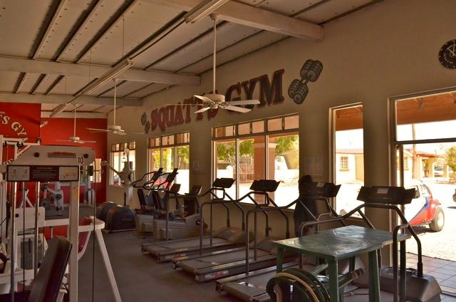 Squatts gym exercise