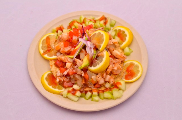 Taco Factory shrimp plate