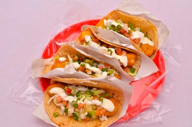 Tacos from the Taco Factory San Felipe, Baja